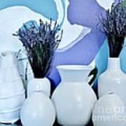 White Vases Art Print