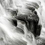 White Water Falls Art Print