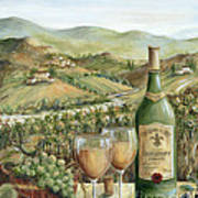 White Wine Lovers Art Print by Marilyn Dunlap
