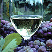 White Wine Reflections Art Print