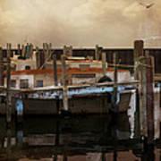 Whitefish Point Harbor Michigan Art Print