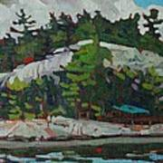 Whitefish River Cottages Art Print
