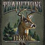 Whitetail Deer Traditions Art Print by JQ Licensing
