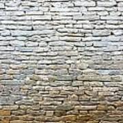 Whitewash Old Stone Wall Art Print