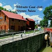 Whitewater Canal Locks Art Print