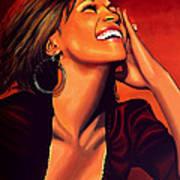 Whitney Houston Art Print by Paul Meijering