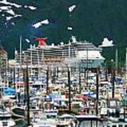 Whittier Alaska Boat Harbor Art Print