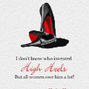 Who Invented High Heels? Art Print