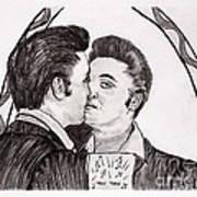 Elvis Who Loves Ya Baby? Art Print