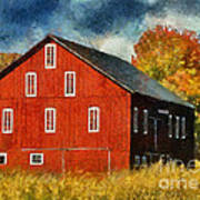 Why Do They Paint Barns Red? Art Print