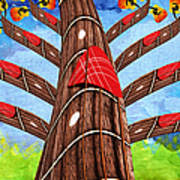 Why Pick On Me Guitar Abstract Tree Art Print