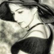 Wiccan Lady Art Print