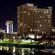 Wichita Hyatt Along The Arkansas River Art Print