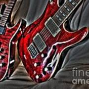 Wicked Relations Digital Guitar Art By Steven Langston Print by Steven Lebron Langston