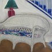 Wicker Couch Art Print