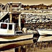 Wickford Marina Art Print