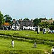 Wide Panorama Of Stone Circle Avebury Circle  Wiltshire Uk  Art Print