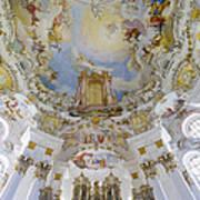 Wieskirche Organ And Ceiling Art Print