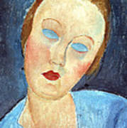 Wife Of The Painter Survage Art Print by Amedeo Modigliani