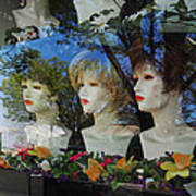 Wig Shop Window Art Print