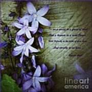 Wild Blue Flowers And Innocence 2 Art Print