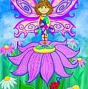 Wild Flower Fairy  Art Print