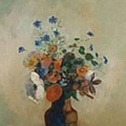 Wild Flowers Art Print by Odilon Redon