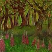 Wild Foxgloves Art Print