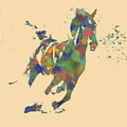 Wild Horse Art Print by Soumya Bouchachi