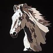 Wild Horse With Hidden Pictures Art Print