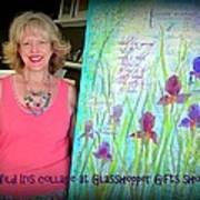Wild Iris Collage At Glasshopper Gifts Show Art Print