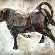 Wild Raging Bull Art Print
