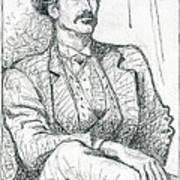 Wild West Gambler Art Print