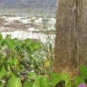 Wildflowers At The Beach Art Print
