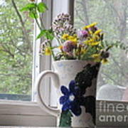 Wildflowers In Vase Art Print