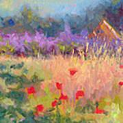 Wildrain Retreat - Lavender And Poppies Art Print