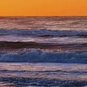 Wildwood Beach Golden Sky Art Print