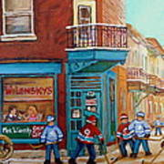 Wilensky Montreal-fairmount And Clark-montreal City Scene Painting Art Print by Carole Spandau