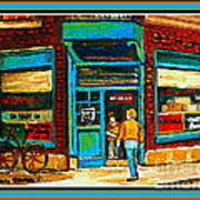 Wilenskys Art Famous Blue Door Posters Prints Cards Originals Commission Montreal Painting Cspandau  Art Print