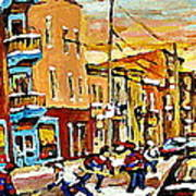 Wilenskys Hockey Paintings Montreal Commissions Originals Prints Contact Artist Carole Spandau  Art Print