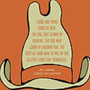 Will Rogers Cowboy Hat Art Print