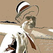 Will Rogers Informal Portrait Unknown Photographer Or Location 1924-2014  Art Print