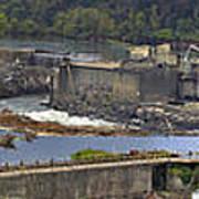 Willamette Falls Dam In Oregon City Panorama 3 Art Print