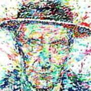 William Burroughs Watercolor Portrait Art Print