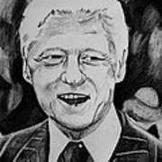 William Jefferson Clinton Art Print by Jeremy Moore