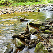 Williams River Headwaters Zen Rocks Art Print
