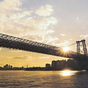 Williamsburg Bridge - Sunset - New York City Art Print