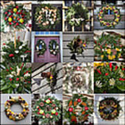 Williamsburg Christmas Collage Squared 2 Art Print
