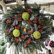 Williamsburg Wreath Squared Art Print