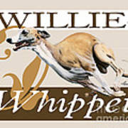 Willie The Whippet Art Print by Liane Weyers
